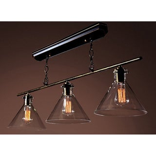 Warehouse of Tiffany Amerie 3-light Black Island Light