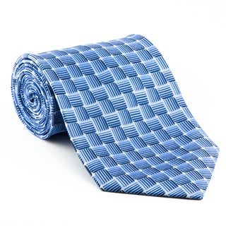 Platinum Ties Men's 'Blue Water' 100-Percent Polyester Necktie
