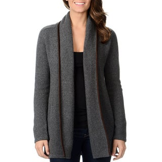 Ply Cashmere Women's Fashion Cashmere Open Cardigan