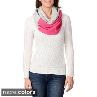 Ply Cashmere Women's Colorblock Design Cashmere Scarf