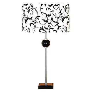 Black/ White Shade Metal Table Lamp