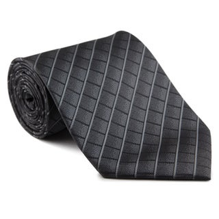 Platinum Ties Men's 'Gray Tab' Necktie