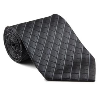 Platinum Ties Men's 'Gray Tab' Necktie