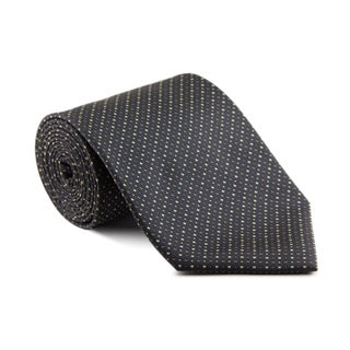 Platinum Ties Men's 'Charcoal Mix' Necktie