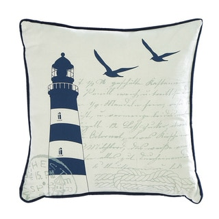 Artistic Lighthouse 18-inch Linen Decorative Throw Pillow