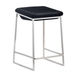Backless Grey Counter Chair (Set of 2)