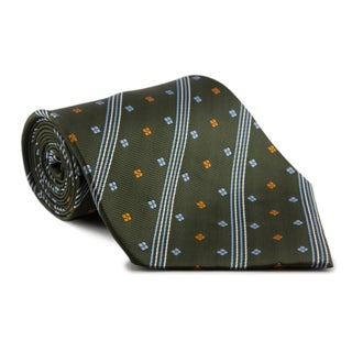 Phatties Men's 'Racing Green Crescendo' 5-inch Wide Necktie