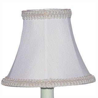 Crown Lighting White Bell with Braided Trim Chandelier Shades (Set of 2)