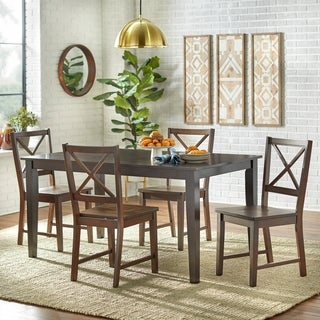Cross-back Espresso 7-piece Dining Set