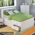 Sonax 2-piece Double/ Full-size Captain's Storage Bed and Bookcase Headboard Set