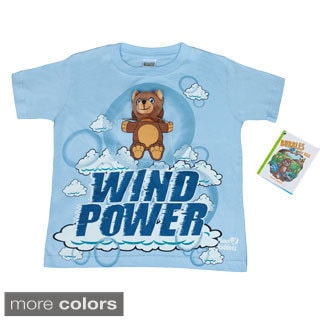 Kids Bubbles the Bear T-shirt with Finger Puppet Bear Toy