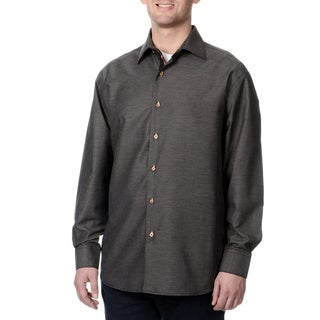 Steve Harvey Men's Grey Button Down Shirt