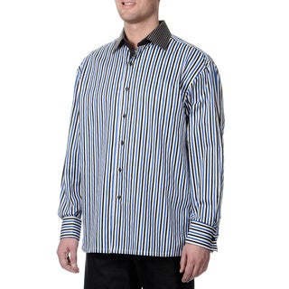 Steve Harvey Men's Stripes Button Down Shirt