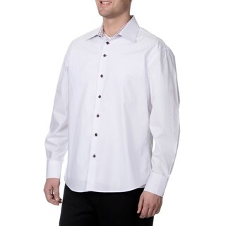 Steve Harvey Men's White Button Down Shirt