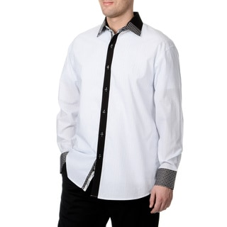 Steve Harvey Men's Geo Button Down Shirt