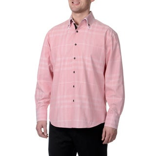 Steve Harvey Men's Double Button Down Shirt