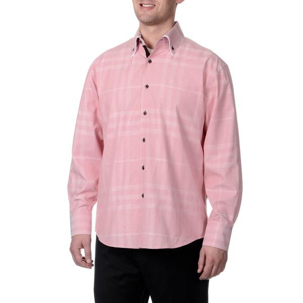 Steve Harvey Men's Double Button Down Shirt