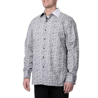 Steve Harvey Men's Speckle Button Down Shirt