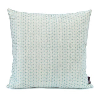 Hand-printed Celadon Throw Pillow