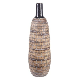 Privilege Small Brown 20-inch Ceramic Vase