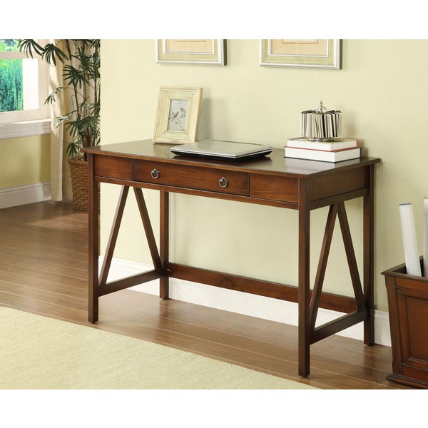 Linon Titian Brown Wood Desk