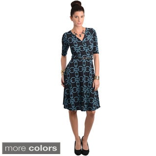 Stanzino Women's Chain Print Knee Length Dress