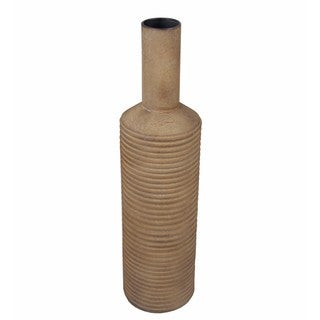 Privilege 33-inch Rustic Brown Ceramic Vase