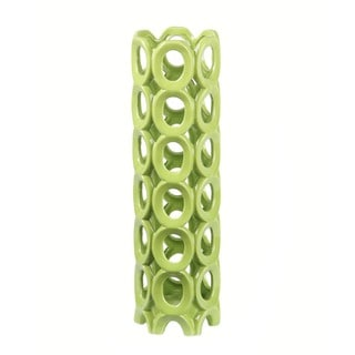 Privilege Medium Circles Green Ceramic Vase