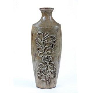Privilege Antique Green Medium Ceramic Vase