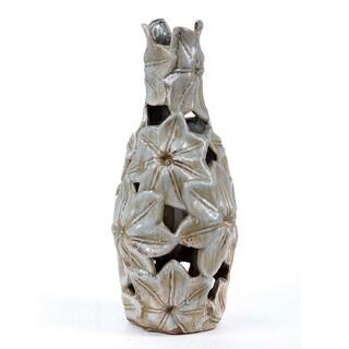 Privilege Medium Pierced Ceramic Vase