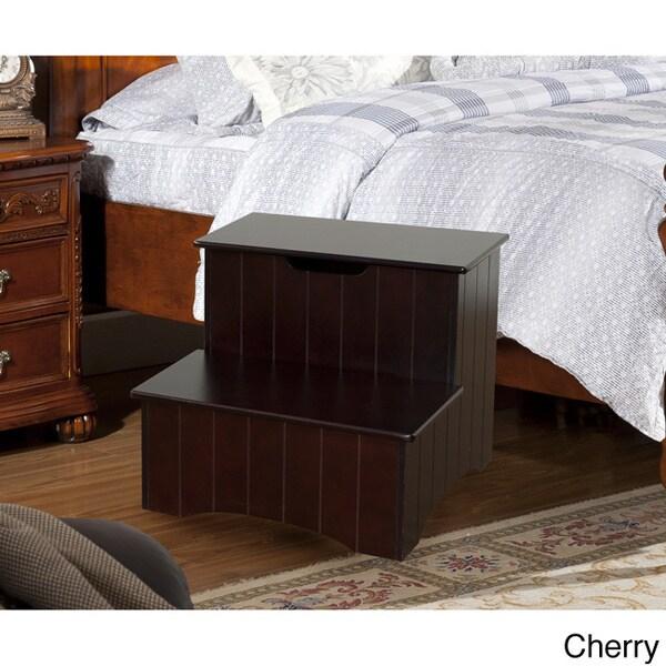 K&B 33CH Wood Storage Step Stool