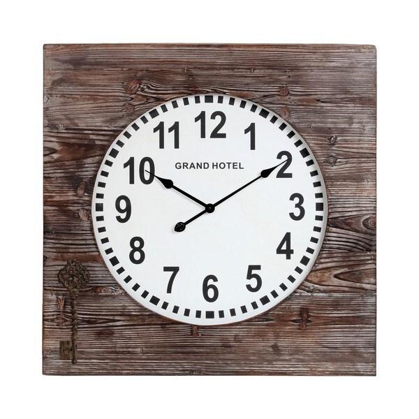 Privilege Reclaimed Wooden Clock