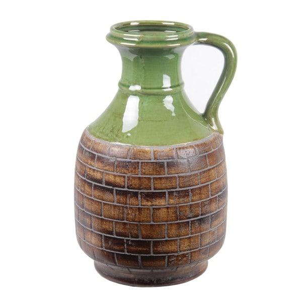 Privilege Large Ceramic Vase With Handle