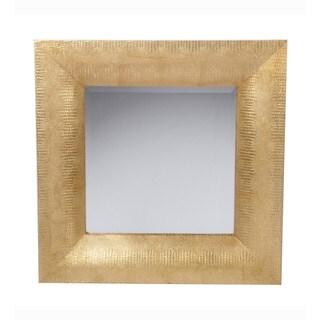 Privilege Hammered Gold Beveled Wall Mirror