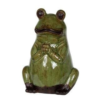 Privilege Large Green Ceramic Frog