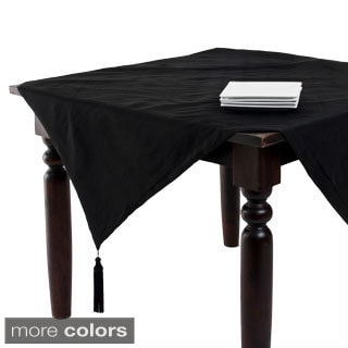 Classic Duponi Design Tasseled 54-inch Table Topper
