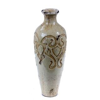Privilege White Medium Decorative Ceramic Vase