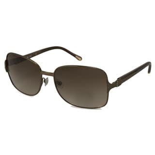 Fossil Women's Brown Addie Rectangular Sunglasses