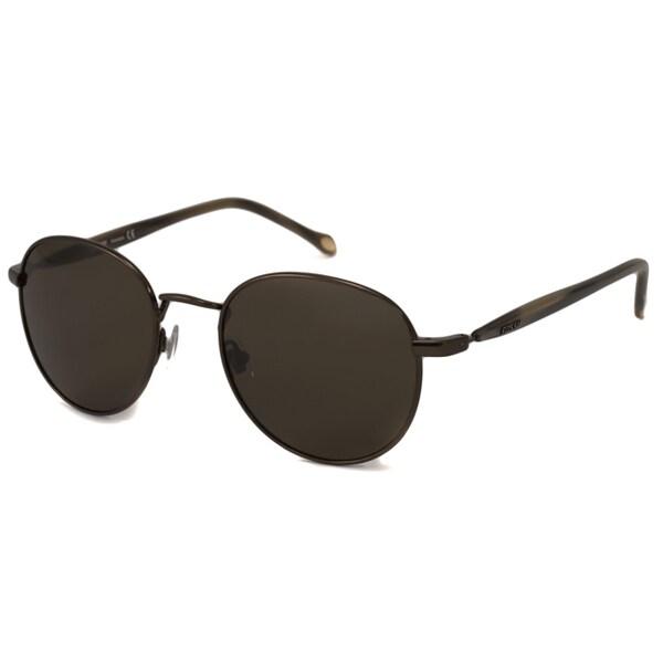 Fossil Men's Sonny Polarized Brown Oval Sunglasses