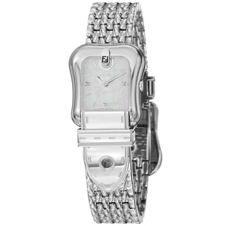 Fendi Women's 'B. Fendi' Mother of Pearl Dial Stainless Steel Watch