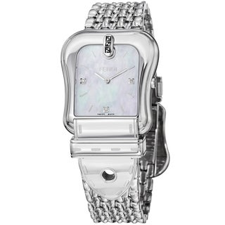 Fendi Women's F381024500D1 'B. Fendi' Mother of Pearl Diamond Dial Bracelet Watch