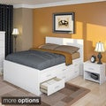 Sonax 2D-1X1-LWB Douoble-size 3-piece Captain's Storage Bed Set
