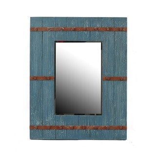 Privilege Blue Vintage Reclaimed Wood Wall Mirror