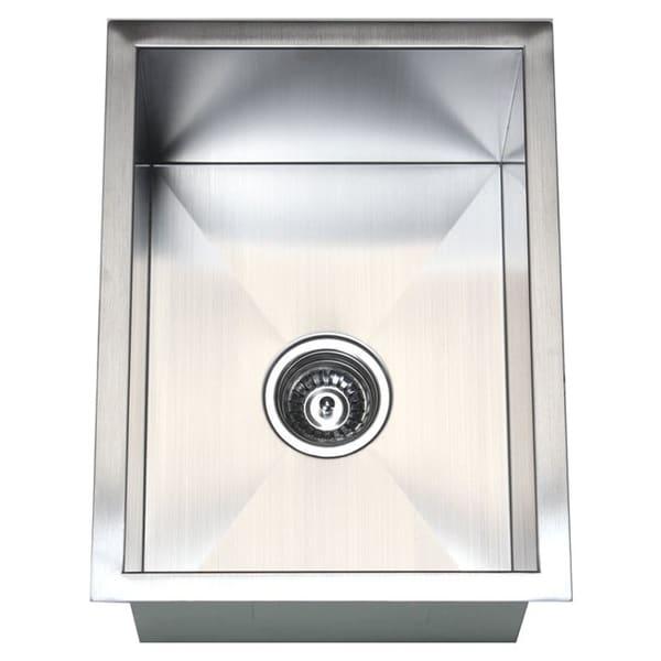 Zero Radius Stainless Steel 15-inch Single Bowl Undermount Sink