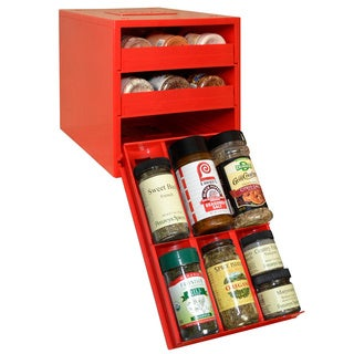 SpiceStack Red 18-bottle Spice Organizer