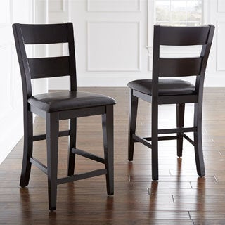 Vaughn Espresso Counter Height Chair (Set of 2)