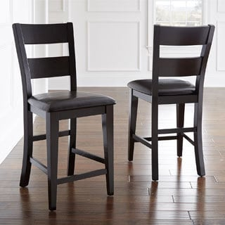 Vaughn Espresso Counter Height Chair Set Of 2