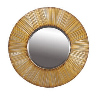 Privilege Silver/Gold Round Beveled Mirror