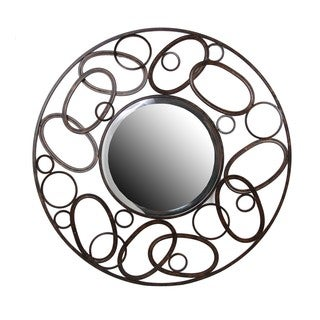 Privilege Link Design Beveled Round Mirror