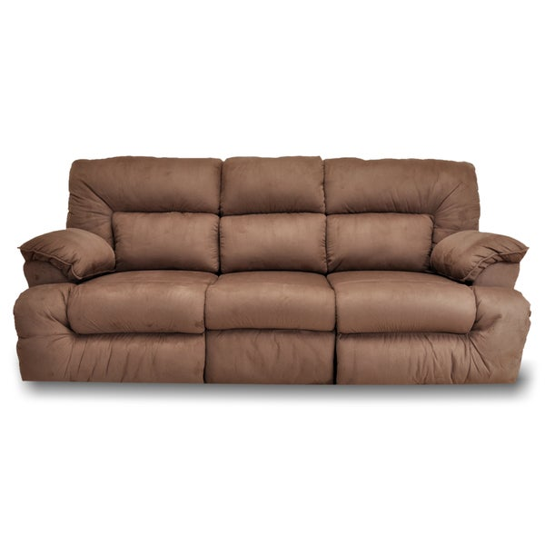 Franklin Tristin Mink Microfiber Dual Reclining Sofa And
